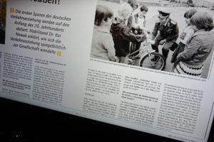 Screenshot: Artikel in der Zeitschrift für Verkehrserziehung