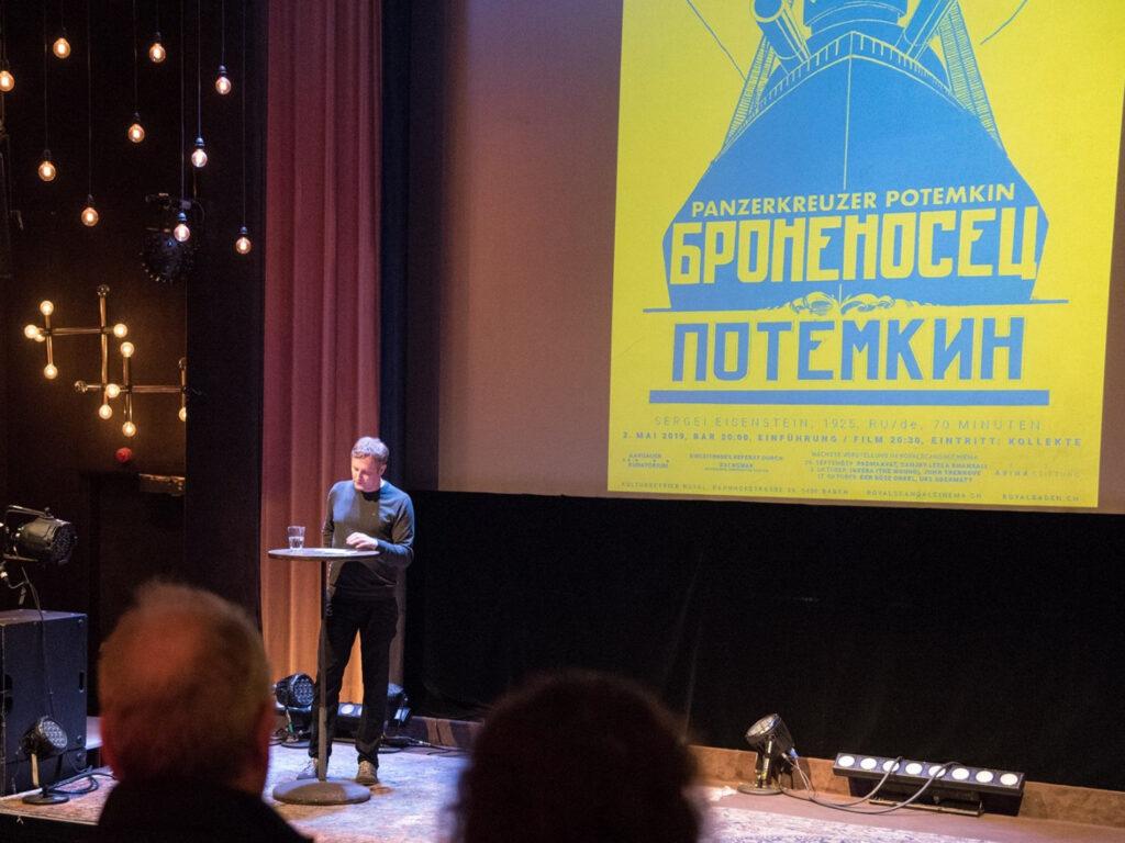 Vortrag zu Panzerkreuzer Potemkin im Kino Royal (Baden)