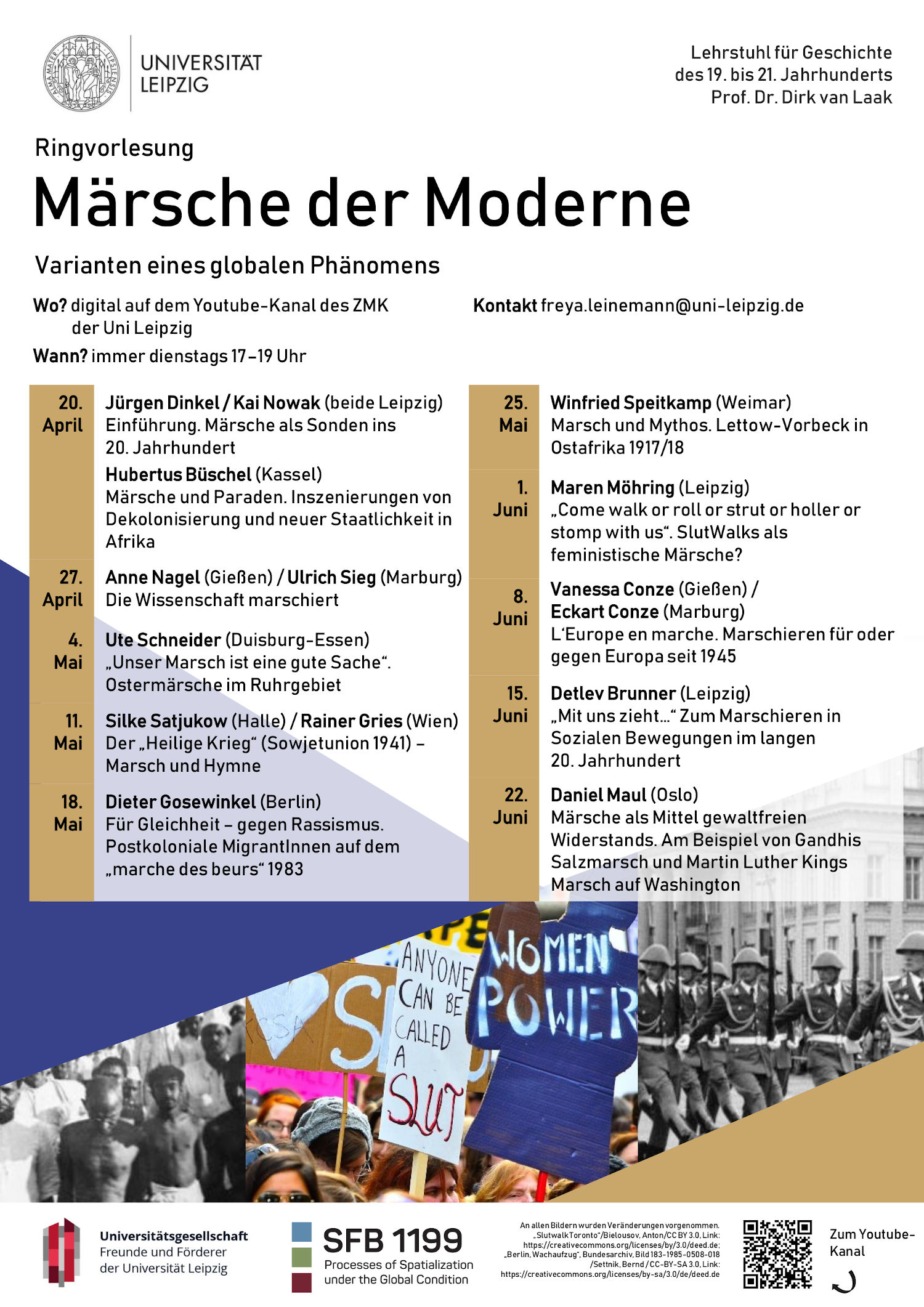 Plakat Märsche der Moderne